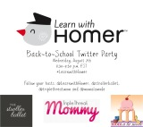 Join the #LearnWithHomer Twitter Party: Aug 7th {Prizes}