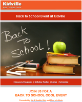 Join us for a Back to School Cool Event with Kidville: Tues, 9/24