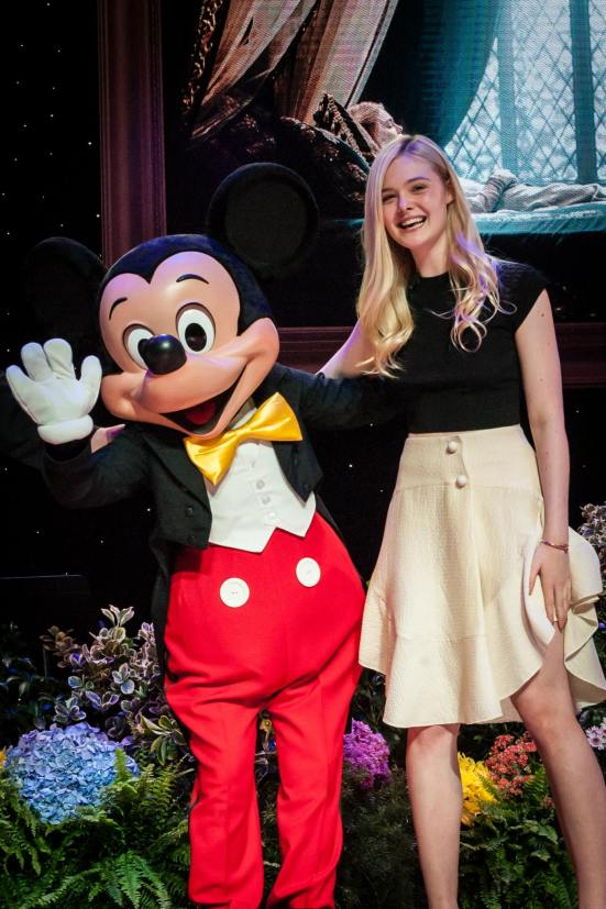 Mickey and Elle Fanning while at Disney Social Media Moms photo courtesy of Josh Hallett @hyku