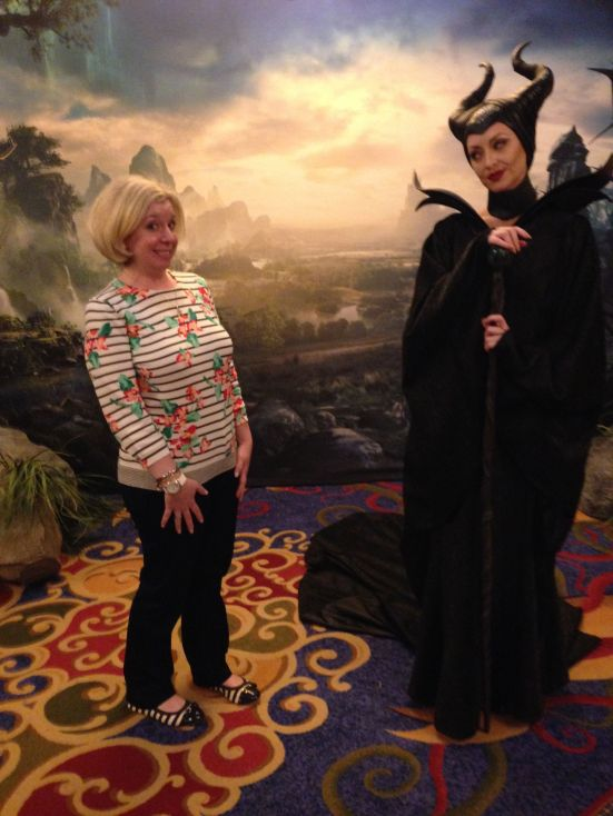 My chance meeting with Maleficent (she was spooky!)